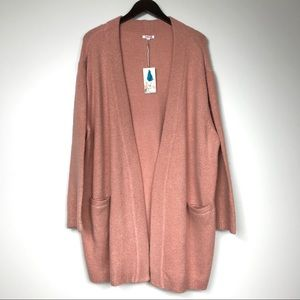 NWT JOHNNY WAS Day Petite Metallic Cardigan XL